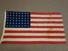 "Vintage 48 Star American Flag 31"" x 54"" Stars Are Sewn On"
