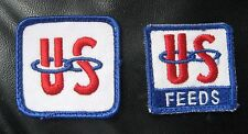US FEEDS EMBROIDERED SEW ON PATCHES LOT OF 2 UNITED SUPPLIERS UNIFORM SHIRT HAT