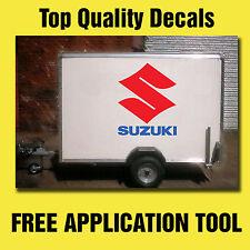 2x LARGE SUZUKI Sticker Decals Van Trailer Motocross SUZ-01
