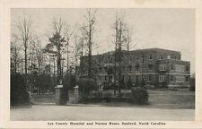 Sanford NC * Lee County Hospital & Nurses Home  1949