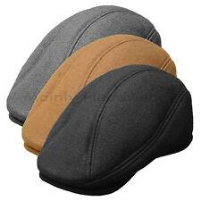 Wool Ivy Cap Newsboy Men Gatsby Hat Golf Driving Flat Cabbie Brown ascot Gray