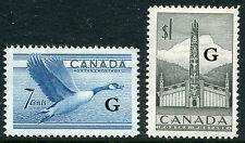 Canada #O31 - O32 Vf Light Hinged Set - Pacific Coast Indian Totem Goose - S6208