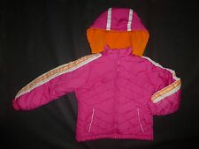 North Point Girls Pink Hooded Winter Fall Coat Jacket Size 7 Removable Hood