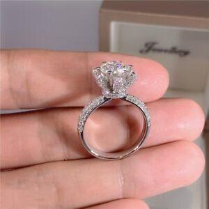 5 Carat Diamond Engagement Ring Women 925 Silver Moissanite Rings Wedding