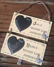 Personalised Diet / Weight Loss Countdown  Tracker Wooden Handmade Plaque Sign