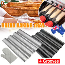 Kitchen French Bread Baking Tray Non-Stick Baguette Mould Cake Toast Mold Tools