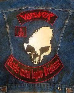 Vomitor 4 Piece Backpatch Sodom Destroyer 666 Sarcofago Sadistik Exekution Venom