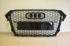 RS4 STYLE FRONT GRILL FOR AUDI A4 S4 TO RS4 B8.5 2012-2016 HONEYCOMB BLACK GLOSS
