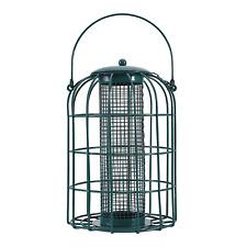 Phi Villa Bird Feeder - Squirrel Proof - Caged Tube Feeder, Green