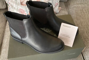 BNIB Timberland Women's Magby Low Chelsea Ankle Boots in Black Size 6,EU39,US8.