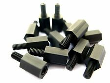 Motherboard de nylon eXXtreme CPU Tornillos de montaje 8mm Negro - 20 Paquete