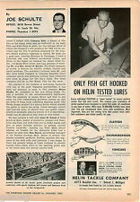 1963 ADVERT Helin Fishing Tackle Lures Flatfish Fishcake Swimmerspoon Detroit