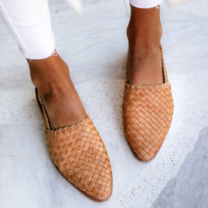 Womens Low Heel Slingbacks Sandals Round Toe Casual Summer Travel Walk Shoe Chic