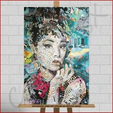 Canvas Large (up to 60in.) Audrey Hepburn Art Prints