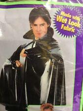 Increíble mirada de cuero Wet Para Adultos Cosplay Vestido Bata Capa Halloween Disfraz Elaborado