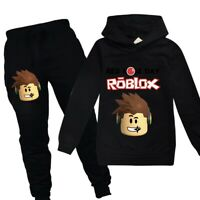 boy outfit roblox 2019 Gifts Roblox Boy Fashion Casual Long Sleeved Hoodie Pant Suit 2pcs Ebay