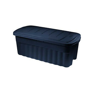 Rubbermaid RMRT5000000 Roughtote Jumbo Storage Container, Cylinder Gray,