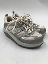 Sketchers Shape Ups Womens Size 6.5 White Silver Athletic Toning Sneakers Shoes