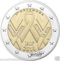 Pièce 2 euros FRANCE 2014 - Journée Mondiale de la Lutte contre le Sida - UNC
