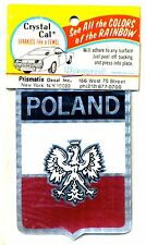 vtg prismatic sticker novelty POLAND polish flag pride