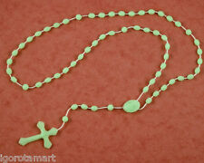 Light Green Glow In Dark Rosary Luminous Noctilucent Religious Accessory UK