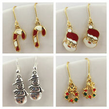 Enamel Mixed Metals Drop/Dangle Costume Earrings