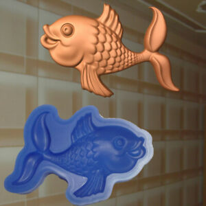 Negativform Gießform Mould Verzierung Dekor Relief Silikon Fisch Stuck (253)