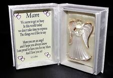 Mam Mothers day gift crystal glass Angel box & poem message | Cellini Gifts #5