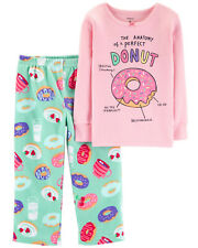 5T Carter's 2-Piece Glitter Donut Snug Fit Cotton & Fleece PJs Girls Pajamas