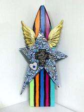 HUGE Star Stripes Wings Assemblage BOHO Folk art Cross Faith Hope Love upcycled