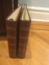 3-Ring Binder Brown Leather. Set Of 2.  Great For CDs And DVD Storage