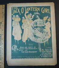 RARE Sheet Music - 1905 - Halloween - Jack o Lantern Girl by Victor Herbert