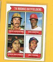 0437  1974 Topps #598 Rookie Outfielders Ken Griffey REDS ROOKIE CARD BK$20