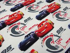 Stoff Baumwolle Jersey Cars 3 Lightning McQueen Disney hellgrau rot blau