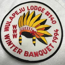 "Lodge 140 Wulapeju Winter Banquet 1994  MINT JACKET BACK PATCH 6"" ACROSS"