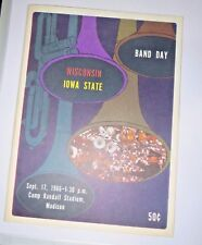 1966 UNIVERSITY OF WISCONSIN BADGERS FOOTBALL PROGRAM VS IOWA STATE CYCLONES