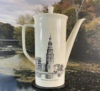 Vintage Villeroy & Boch Grachten Amsterdam Streets  Porcelain Coffee Pot