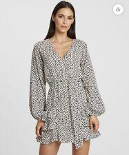 Tussah Madelina Dress White Black Size 14