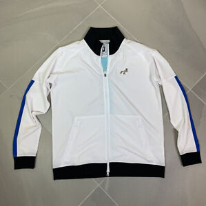 FootJoy Full Zip Up White Windbreaker Golf Jacket Women's Size M White Fox