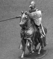 Medieval Cavalry Knight with Lance 1/32 Metal Rider Miniature Toy Soldiers 54mm