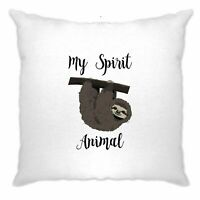Novelty Lazy Cushion Cover My Spirit Animal Is A Sloth Sleepy Bed Joke Teenager