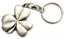Lucky Irish Shamrock Pewter Hand Crafted in UK Key Ring in Gift Pouch