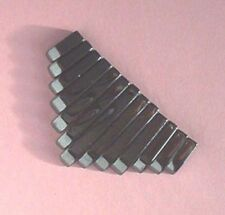 13 piece, hematite, tapered pendant set, for jewellery making crafts