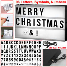 A4 LED Cinematic Light Up Box Personalised Letter Sign Board Cinema Party Shop