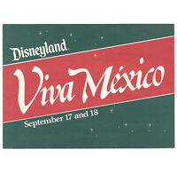 Vintage Disneyland Front Gate Entertainment Schedule Flyer 1983 Viva Mexico