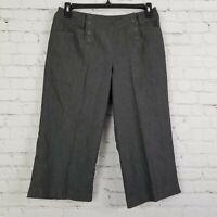 New Directions Womens Capri Size 12 Petite 12p Pants Cropped Gray Pockets