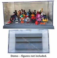 Grey lego batman movie mini figure display case Star wars sets 75131 75141 75133
