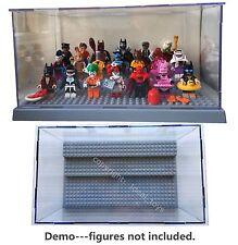 Grey lego batman movie mini figure display case Star wars sets 75131 75141 75133