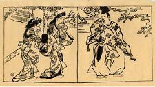 UW»Estampe japonaise courtisanes Sukenobu H51 72 E10