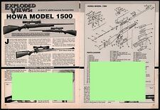 1998 HOWA Model 1500 Rifle Exploded View..Parts List..Assembly Article